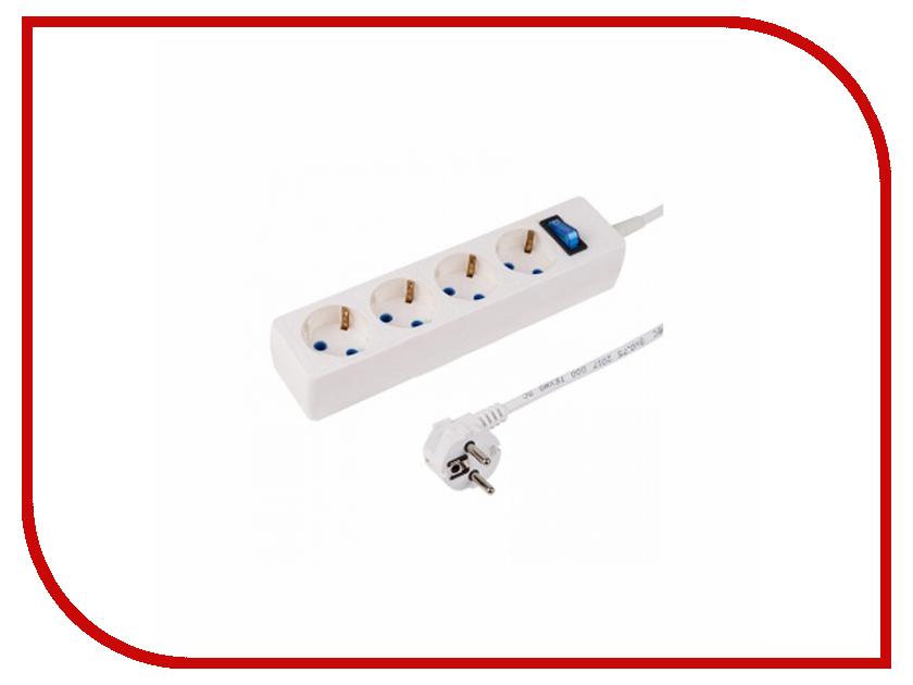 Сетевой фильтр ProConnect 4 Sockets 3m White 11-9524 сетевой фильтр daesung mc2533 3 sockets 3m