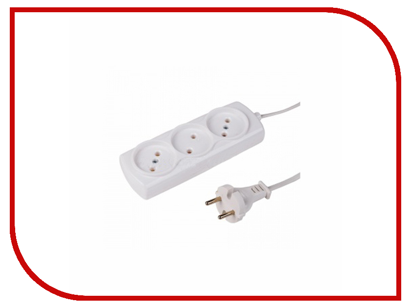 Удлинитель ProConnect 3 Sockets 3m White 11-2405 удлинитель rexant optima 3 sockets 7m white 11 2267