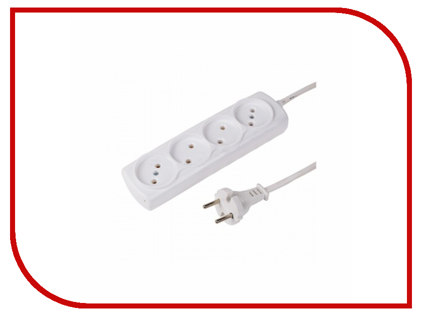 Удлинитель ProConnect 4 Sockets 5m White 11-2410 удлинитель rexant optima 3 sockets 7m white 11 2267