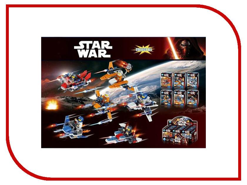 Конструктор Bela Star Wars Космолеты 12шт (6 видов) HL6001 конструктор pin ba ниндзя 2в1 12шт 6 видов 0210е 12