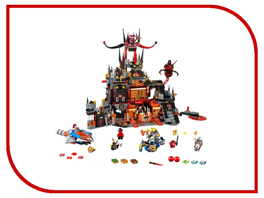Конструктор Bela Nexo Knights Вулканическое Логово Джестро 1237 дет. 10521 lepin nexo knights axl glob lobber combination marvel building blocks kits toys minifigures compatible legoe nexus
