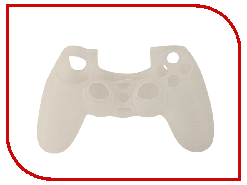 Чехол Apres Silicone Case Cover for PS4 Dualshock White