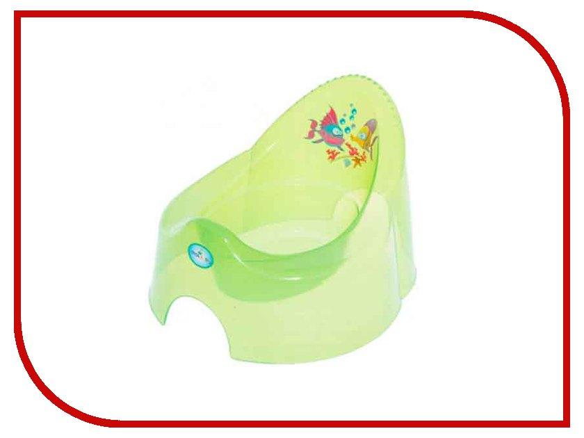 Горшок TEGA AQUA Transparent-Green AQ-001