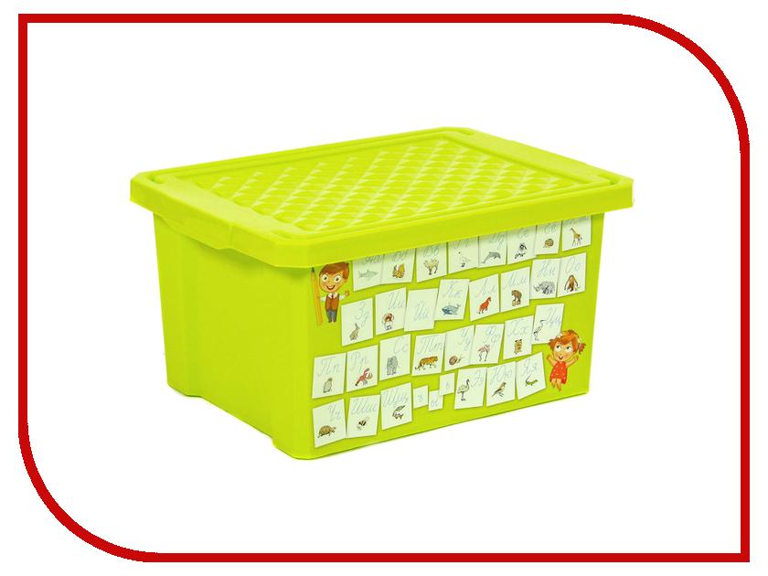 Ящик для игрушек Little Angel Обучайка Азбука 17L Light Green LA1023ОБ little angel ящик для игрушек x box малышарики 17 л