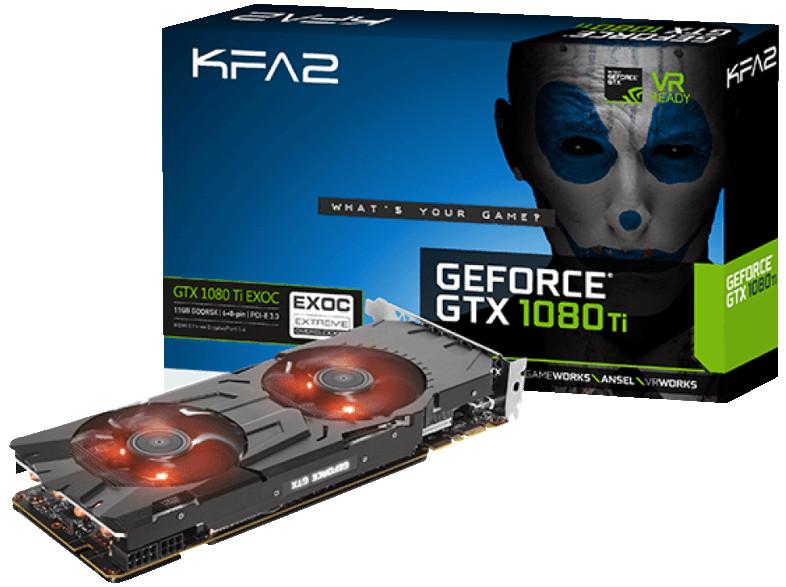 Видеокарта KFA2 GeForce GTX 1080 Ti EX OC 1531Mhz PCI-E 3.0 11264Mb 11000Mhz 352 bit DVI HDMI HDCP 80IUJBMDP0EK 7126425 видеокарта 11264mb inno3d geforce gtx 1080 ti gaming oc pci e 352bit gddr5x dvi hdmi dp hdcp n108t 1sdn q6mnx oem из ремонта