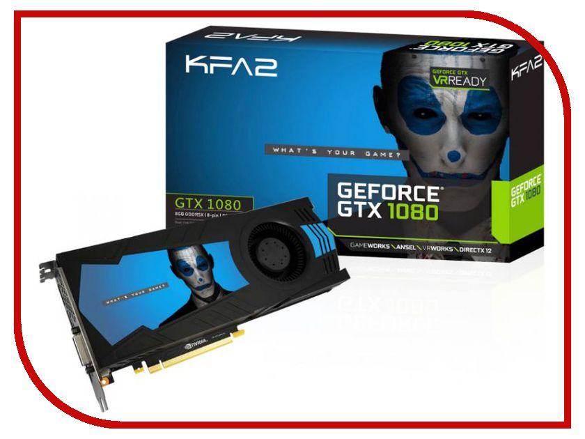 Видеокарта KFA2 GeForce GTX 1080 1607Mhz PCI-E 3.0 8192Mb 10000Mhz 256 bit DVI HDMI HDCP White 80NSJ6DHK5VK 7122885