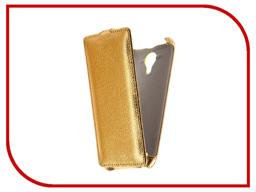 Аксессуар Чехол Micromax Bolt Q354 Svekla Gold FL-SVMMQ354-GOLD micromax q354 3g 8gb copper gold