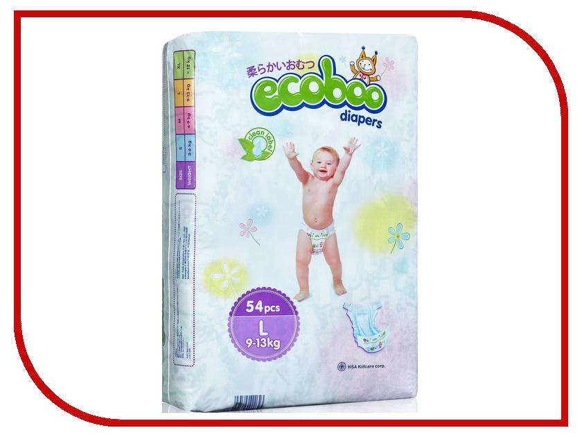 Подгузники Ecoboo L 9-13кг подгузники детские ecoboo детские одноразовые подгузники трусики