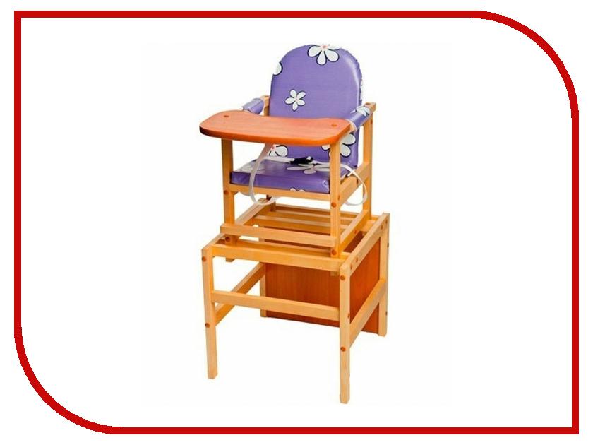 Стул ПМДК Октябренок Ромашки Violet Light 00000045543 стул трансформер для кормления октябренок ромашки желтый дуб
