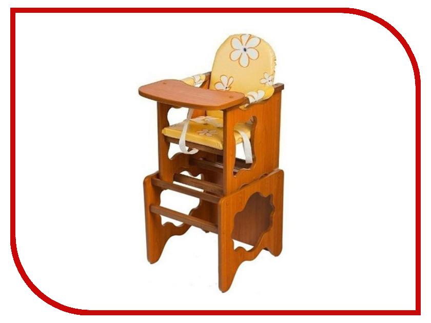 Стул ПМДК Премьер Ромашка Yellow Орех 00000043239 стул трансформер для кормления пмдк премьер полянка светлый орех