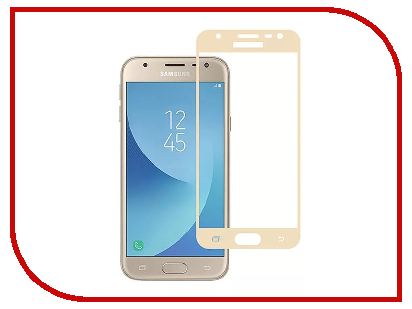 Аксессуар Защитное стекло Samsung SM-J330F Galaxy J3 2017 Zibelino TG Full Screen Gold 0.33mm 2.5D ZTG-FS-SAM-J330F-GLD