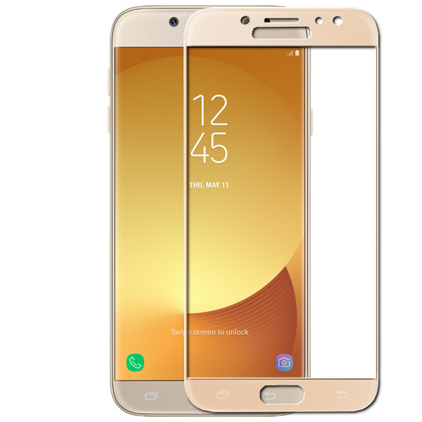 Защитное стекло для Samsung SM-J730F Galaxy J7 2017 Zibelino TG Full Screen Gold 0.33mm 2.5D ZTG-FS-SAM-J730F-GLD