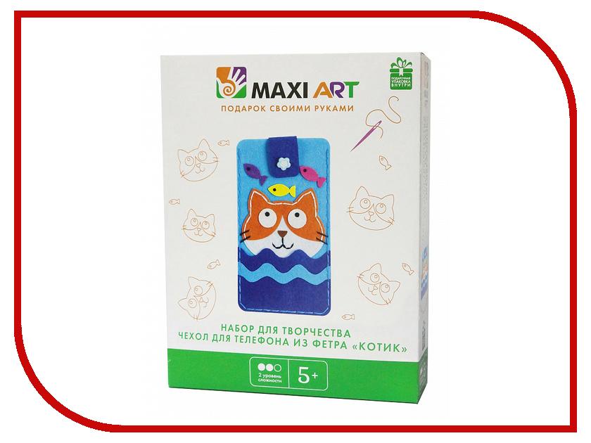 Набор для творчества Maxi Art Чехол для телефона Котик MA-A0203-2 набор для творчества maxi art набор для лепки бигфут трактор