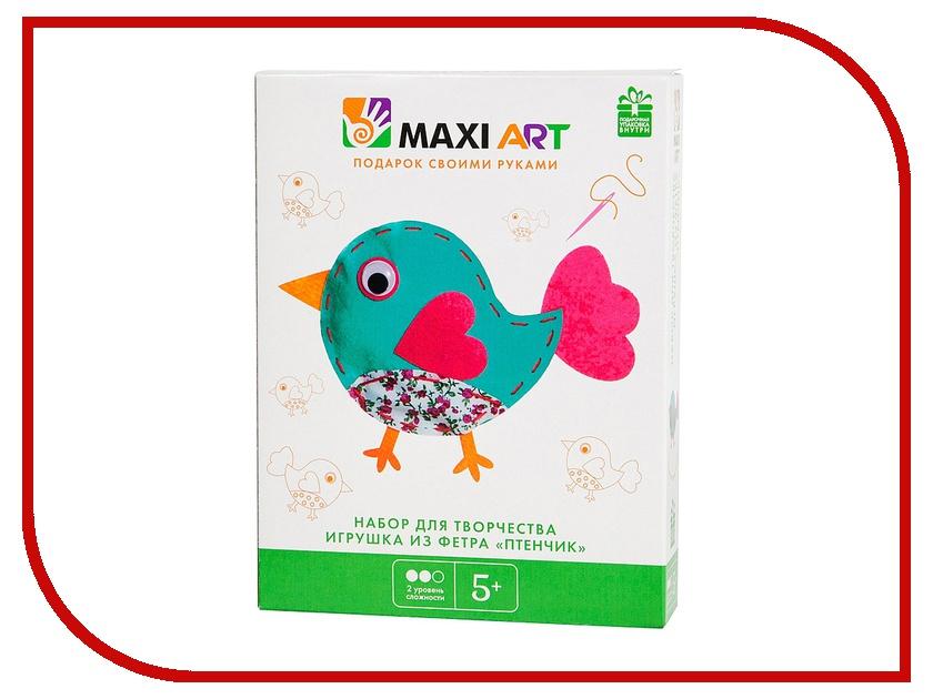 Набор для творчества Maxi Art Игрушка из фетра Птенчик MA-A0069 набор для творчества maxi art набор для лепки бигфут трактор