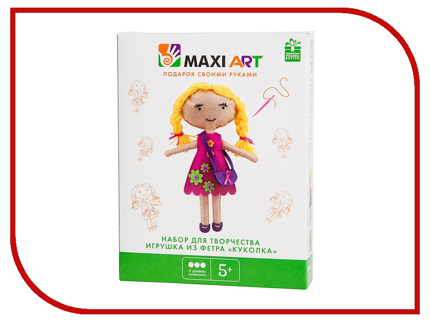 Набор для творчества Maxi Art Игрушка из фетра Куколка MA-A0035