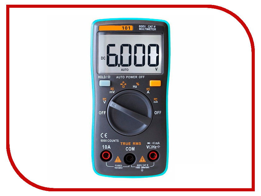 Мультиметр S-Line True RMS ZT101 uni t ut139c true rms digital multimeter handheld electrical lcr voltage current meter tester multimetro ammeter multitester