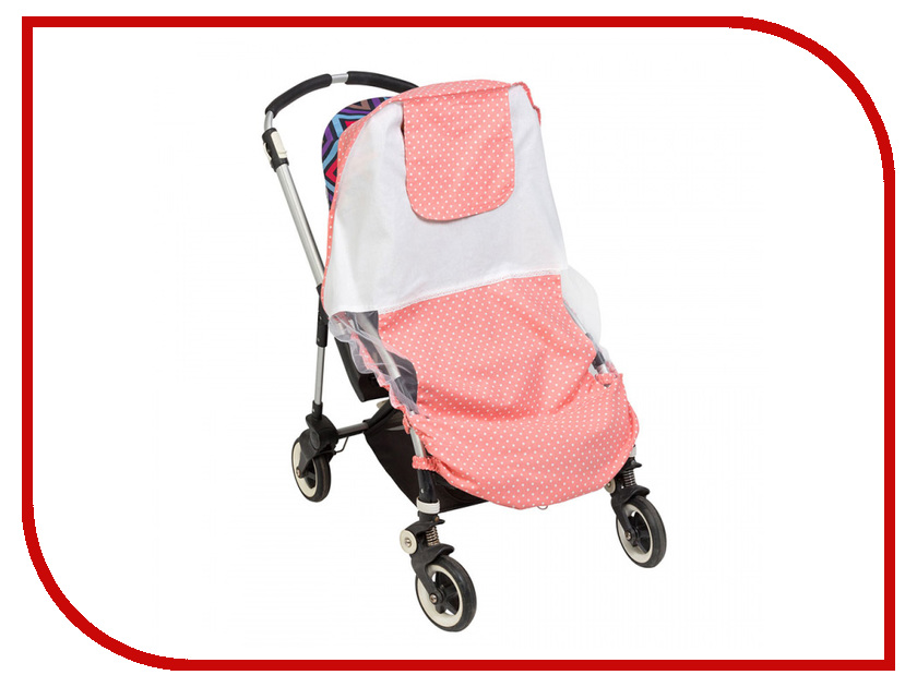 Универсальный хлопковый тент для колясок Mammie 16-11005 Pink 00000663277 цена и фото