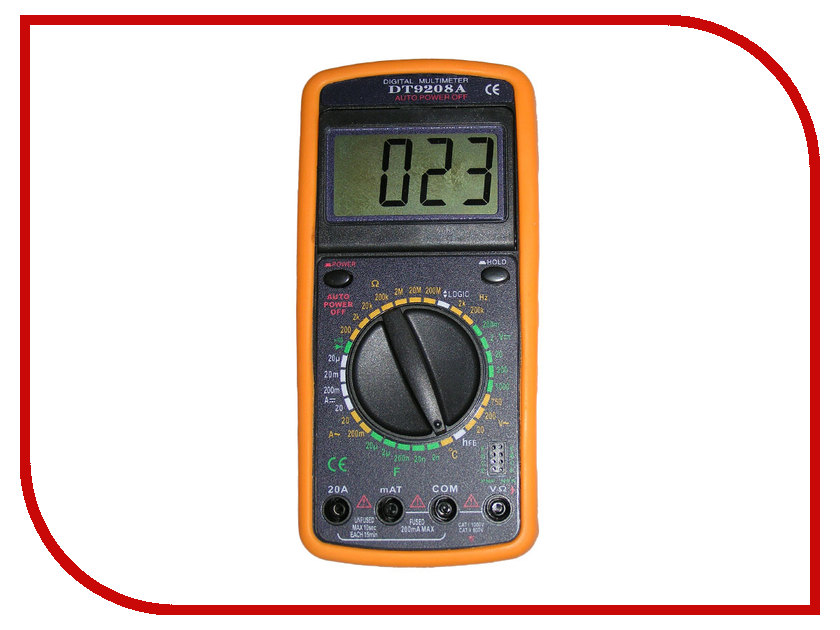 Мультиметр S-Line DT-9208A мультиметр s line dt 9203a