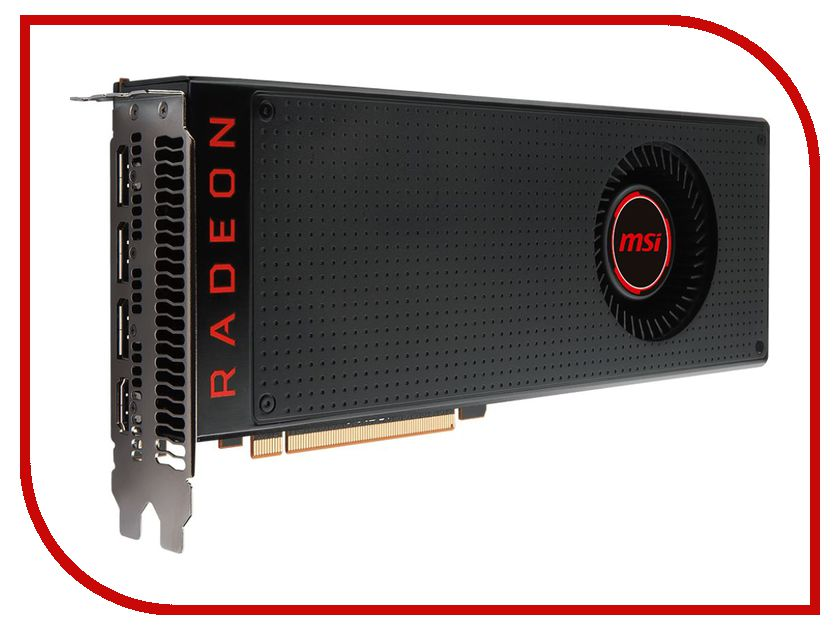 Видеокарта MSI RX Vega 64 1247hz PCI-E 3.0 8192Mb 945Mhz 2048 bit 3xDP HDMI HDCP RX VEGA 64 8G