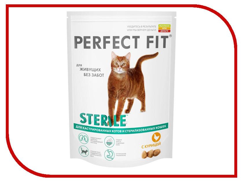 Корм Perfect Fit 190g 10162165/10108262/10156023 для кастрированных котов и стерилизованных кошек clean park 190g