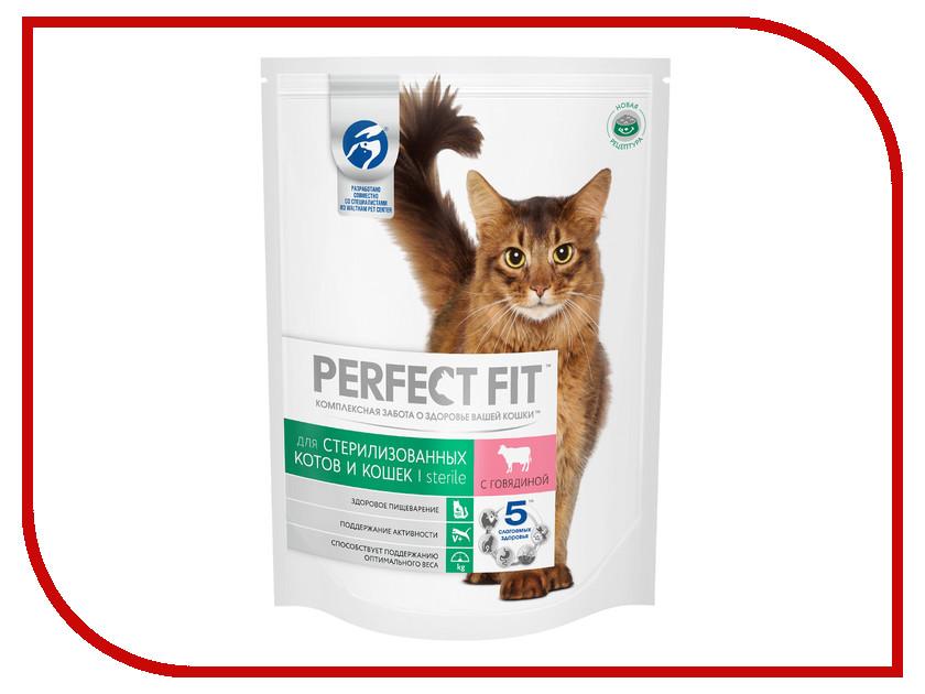 Корм Perfect Fit Говядина 650g 10162220 для стерилизованных кошек говядина 110002