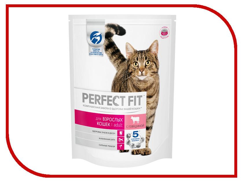Корм Perfect Fit Говядина 650g 10162225 для домашних кошек говядина 110002