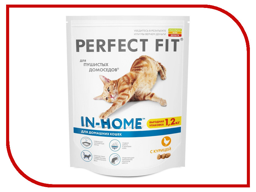 Корм Perfect Fit Курица 1.2kg 10162231/10116516/10156136 для кошек корм для кошек perfect fit купить