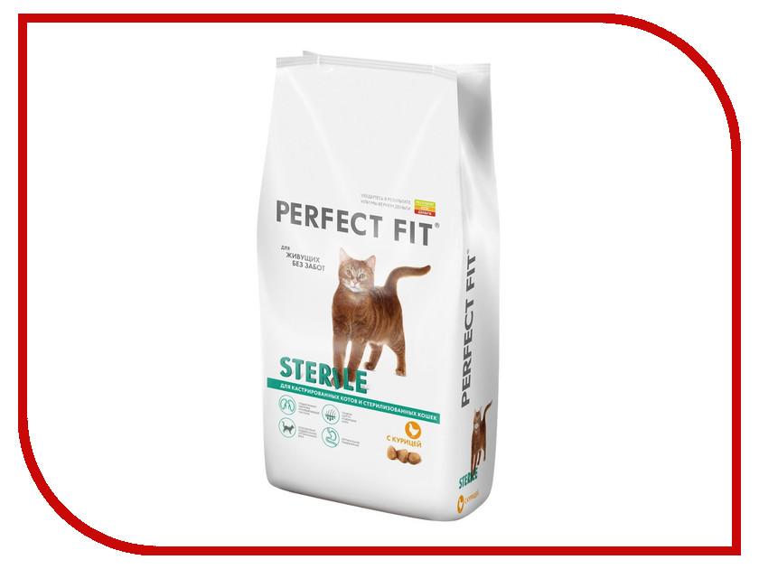 Корм Perfect Fit Курица 3kg 10162239/10155260 для кастрированных котов и стерилизованных кошек корм для кошек perfect fit купить