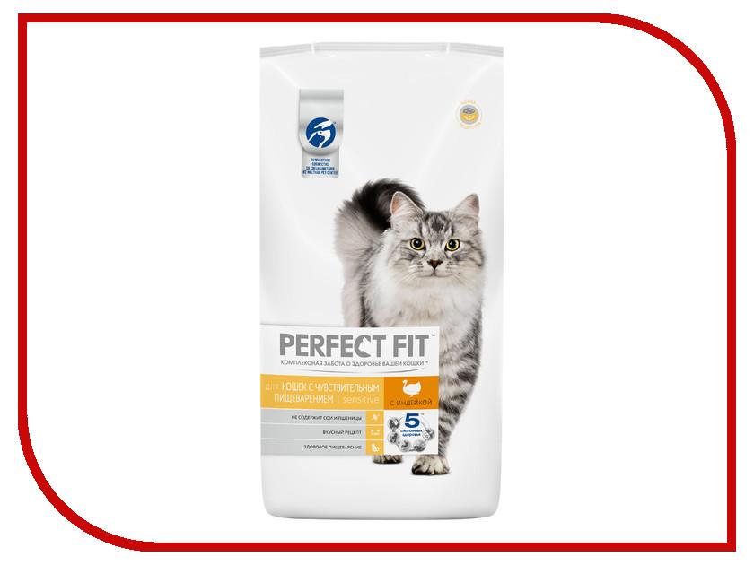 Корм Perfect Fit Индейка 3kg 10162241 для чувствительных кошек корм для кошек perfect fit купить