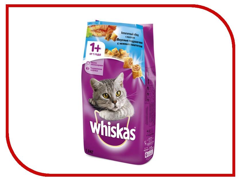 Корм Whiskas Подушечки Паштет лосось 1.9kg 10150208 корм whiskas подушечки паштет молоко индейка морковь 350g для котят 10161188 10116570