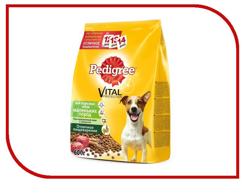 Корм Pedigree Говядина 600g для взрослых собак мелких пород 10113861