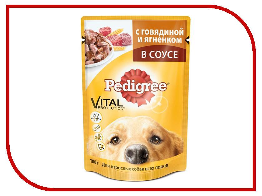 Корм Pedigree Пауч Говядина ягненок 100g для взрослых собак 10117304 / AAG60