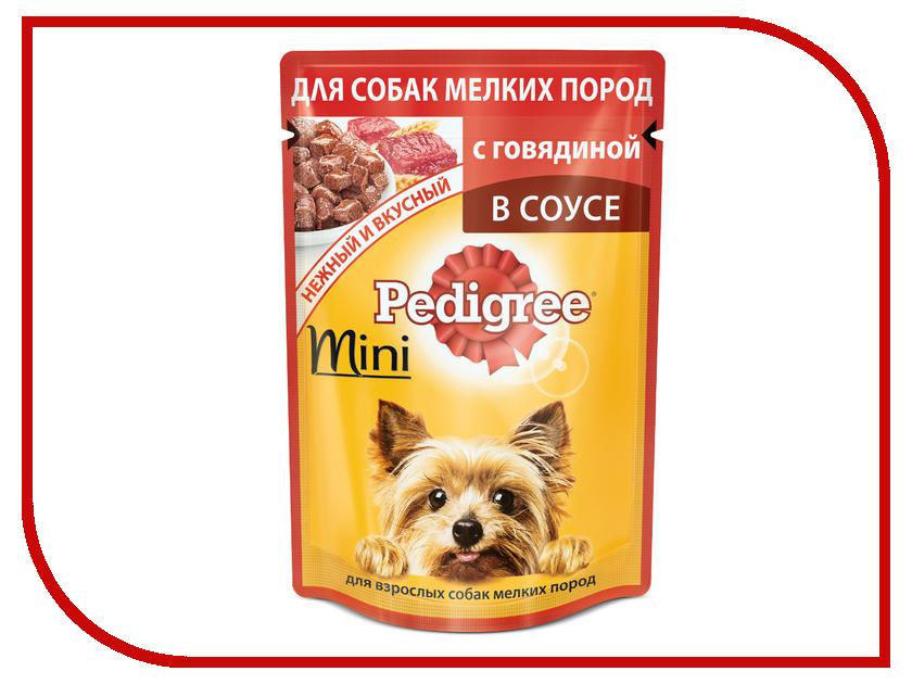 Корм Pedigree Пауч Говядина 85g для взрослых собак мини пород 10163974