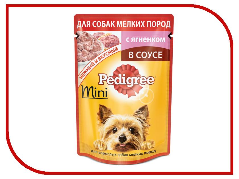 Корм Pedigree Пауч Ягненок 85g для взрослых собак мини пород 10163976