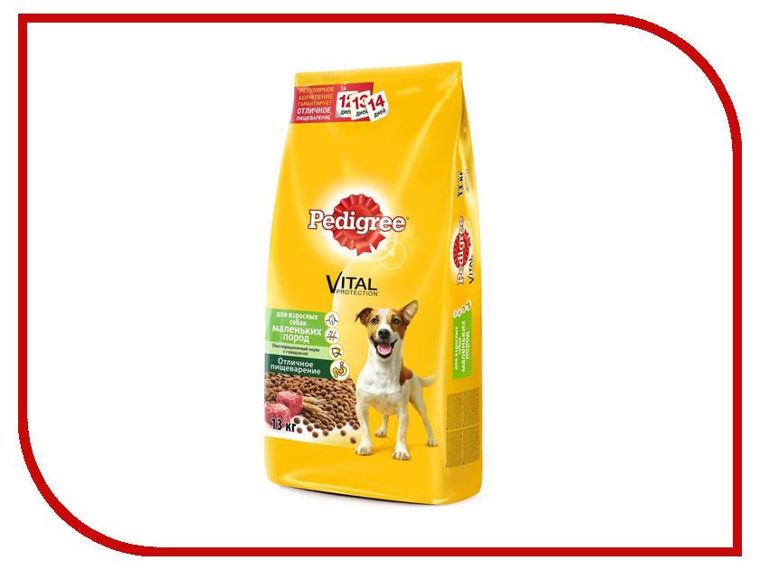 Корм Pedigree Говядина 13kg для взрослых собак мелких пород 10167922/10113865 корм eukanuba dog для взрослых собак мелких пород 800 г