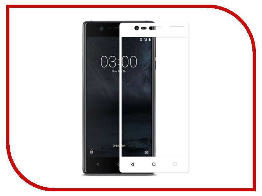 Аксессуар Защитное стекло для Nokia 3 Svekla Full Screen White ZS-SVNO3-BL / ZS-SVNO3-FSWH аксессуар защитное стекло для xiaomi mi8 svekla full screen white zs svximi8 wh