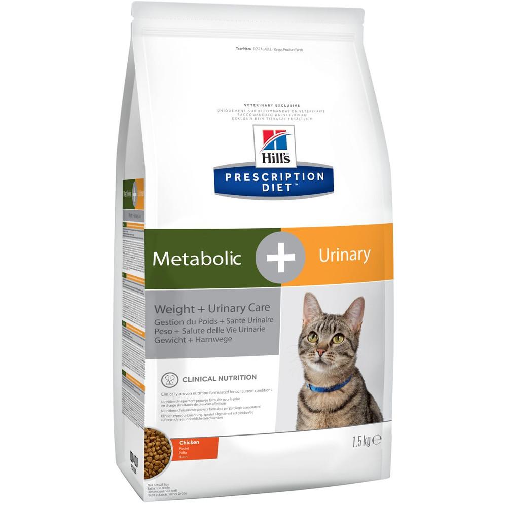 Корм Hills Metabolic + Urinary Диета для коррекции веса Урология 1.5kg кошек 10040