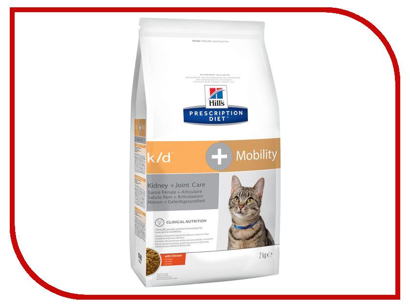 Корм Hills K / D + MOB Полноценный Диетический рацион при заболеваний почек + Суставы 2kg для кошек 10748