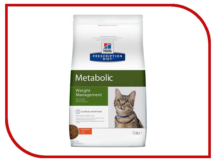 Корм Hills Metabolic Полноценный Диетический рацион при коррекции вес 1.5kg для кошек 2147 корм для кошек hill s metabolic urinary для коррекции веса урология сух 250г