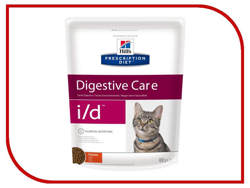 Корм Hills I/D Полноценный Диетический рацион при заболеваний ЖКТ 400g для кошек 5483 корм для кошек хиллс i d при заболеваниях жкт консервы бн 156г