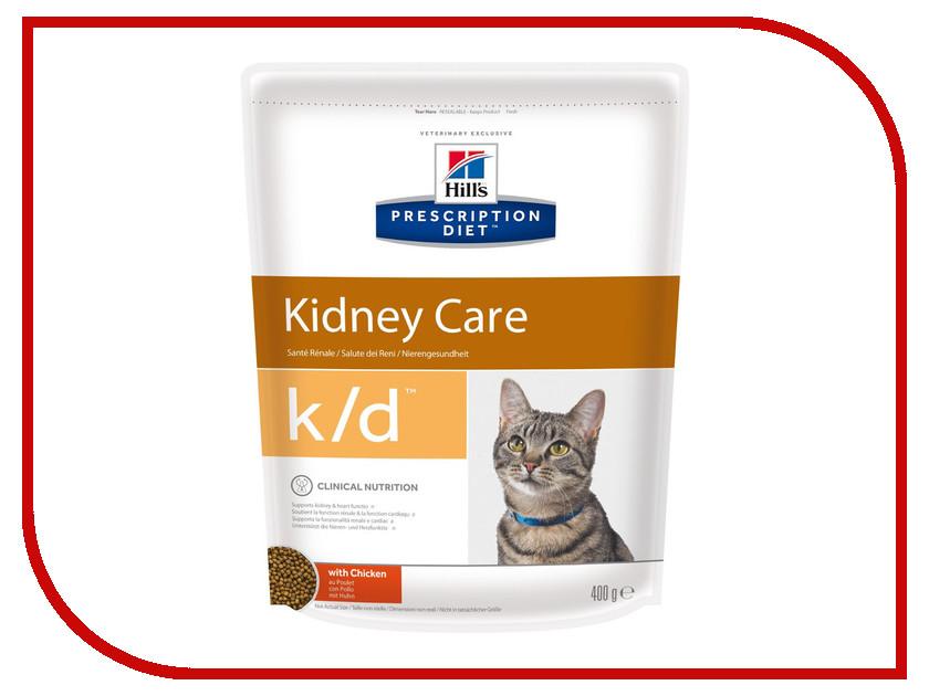 Корм Hills K/D Полноценный Диетический рацион при заболеваний почек 400g для кошек 5484 консервы для кошек hill s k d диетические для лечения заболеваний почек с курицей 156 г х 12 шт