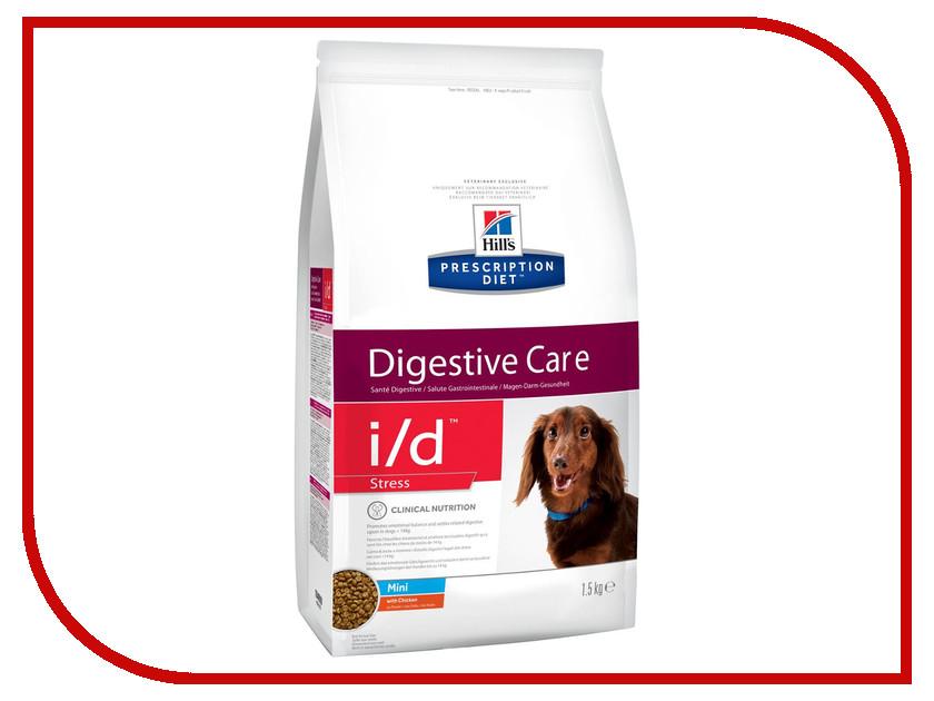 Корм Hills I/D Полноценный Диетический рацион ЖКТ + Стресс Mini 1.5kg для собак 10469 корм для кошек хиллс i d при заболеваниях жкт консервы бн 156г