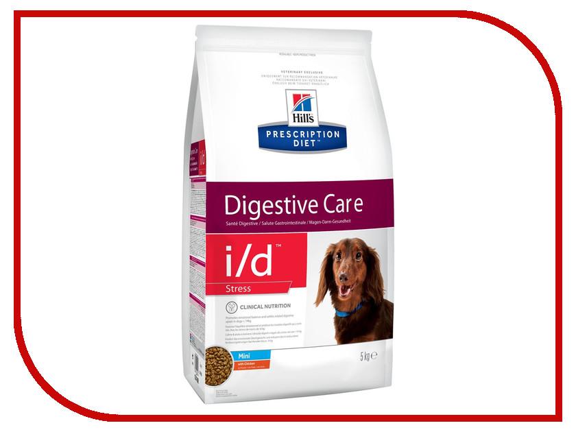 Корм Hills I/D Полноценный Диетический рацион ЖКТ + Стресс Mini 5kg для собак 10470 корм для кошек хиллс i d при заболеваниях жкт консервы бн 156г