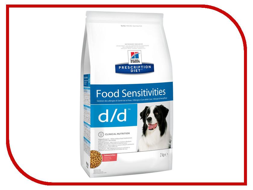 Корм Hills D/D Лосось Рис Полноценный Диетический рацион при пищевых аллергиях 2kg для собак 9114 корм для собак хиллс d d при аллергии утка рис сух пак 5кг