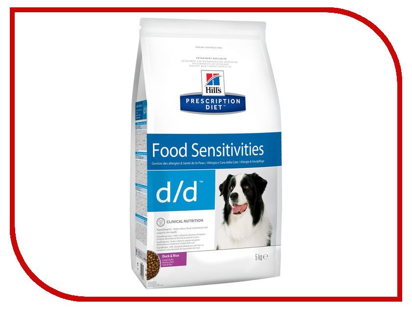 Корм Hills D/D Утка Рис Полноценный Диетический рацион при пищевых аллергиях 5kg для собак 9118