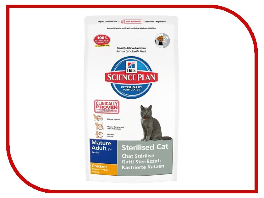 Корм Hills 1.5kg для стерилизованных кошек пожилых кошек 9353 корм hills курица 85g для пожилых кошек 2111