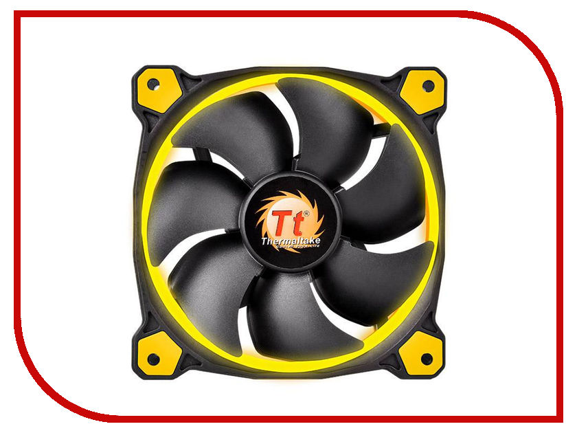 Вентилятор Thermaltake Riing 14 LED 140mm + LNC Yellow CL-F039-PL14YL-A