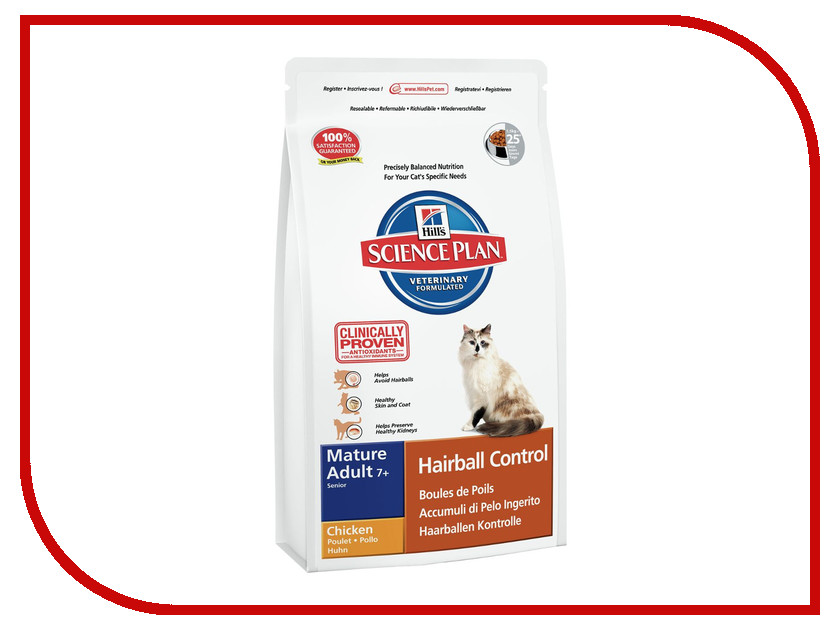 Корм Hills Хаербол контрол выведение шерсти из желудка 1.5kg для пожилых кошек 7610 hills