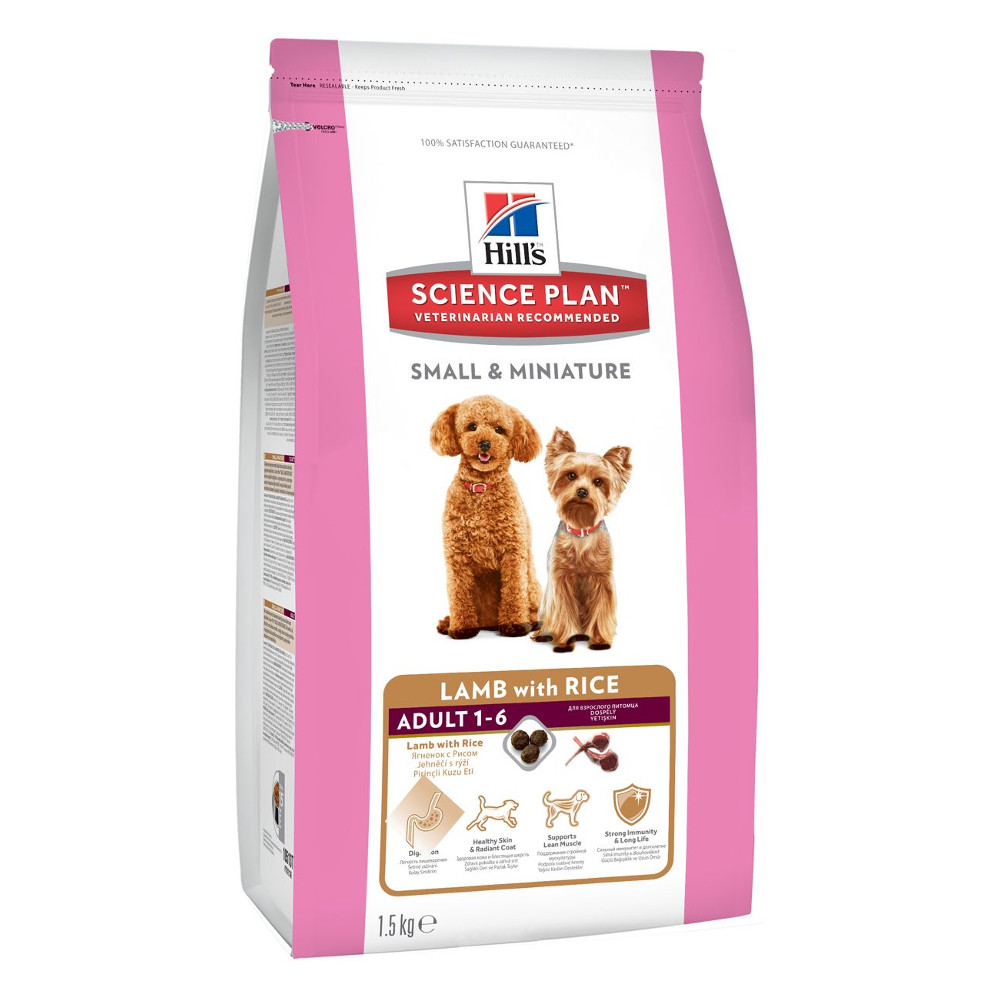 Корм Hills Ягненок рис 1.5kg для собак миниатюрных размеров 10513