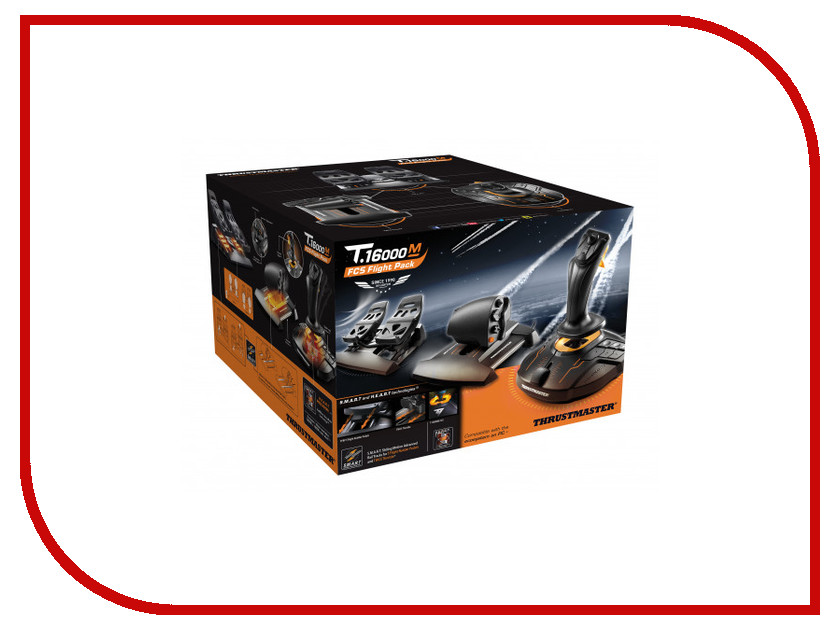 Набор Thrustmaster T-16000M FCS Flight Pack 2960782 + бонусный код от War Thunder audia flight 100 silver